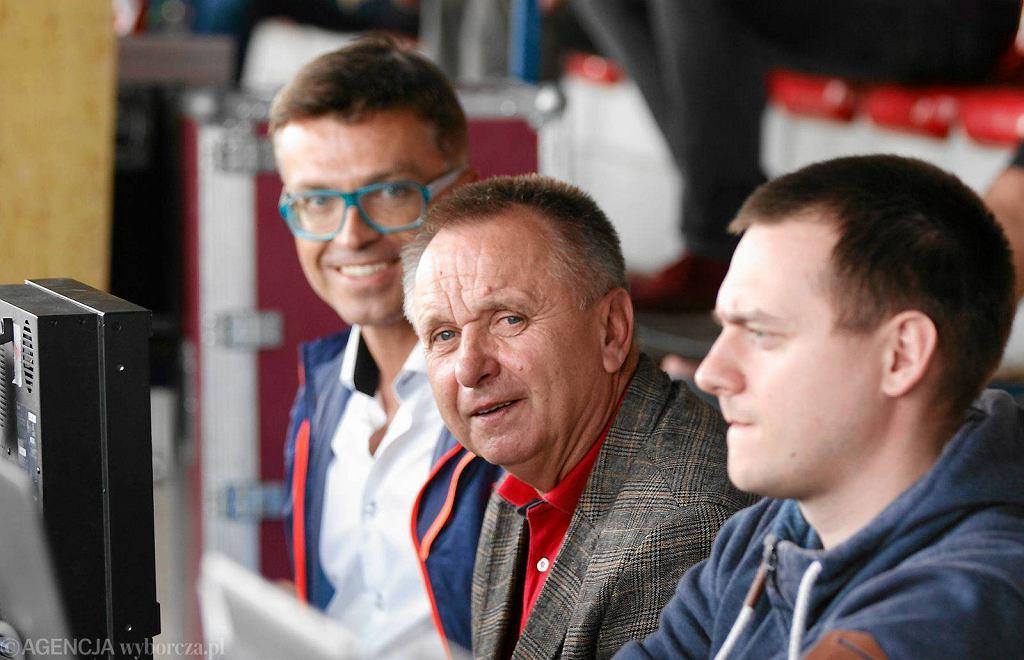 I liga. Stomil Olsztyn - Chrobry Głogów 2:1. Mecz dla stacji Polsat Sport komentowali Bogusław Kaczmarek i Bożydar Iwanow