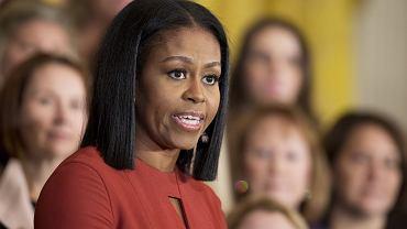 Michelle Obama w czasie swojego ostatniego przemówienia jako Pierwsza Dama w trakcie ceremonii School Counselor of the Year 2017