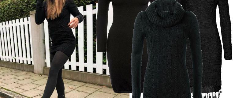 Czarne sukienki na jesień: Lewandowska stawia na dzianinowy model. Mamy podobne!