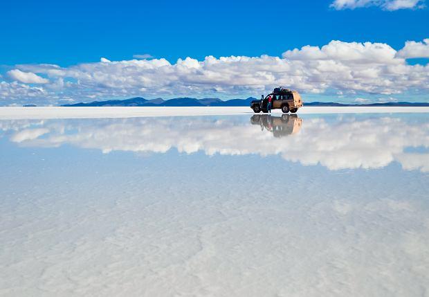 Wyschnięte jezioro Salar de Uyuni w Boliwii, znajdują się tutaj duże zasoby litu
