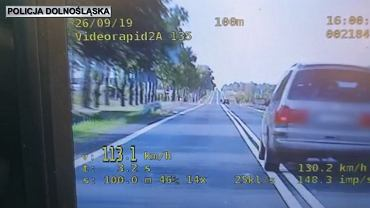 34-letni kierowca ukarany mandatem i punktami karnymi
