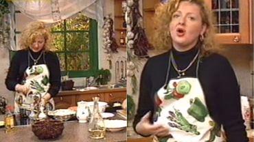 Magda Gessler w 1996 roku w programie 'Smakosze i rozkosze'