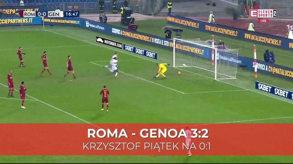 Krzysztof Piątek strzelił gola w meczu z Romą