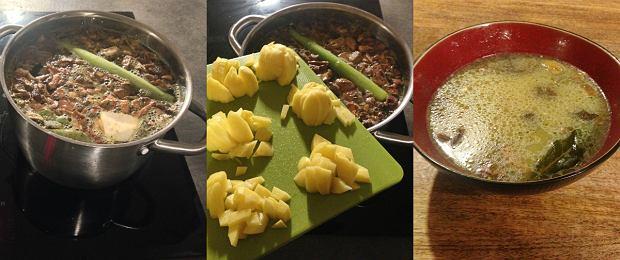 Zupa grzybowa przygotowanie