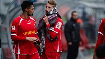 Widzew Łódź - Olimpia Grudziądz 0:3. Krystian Nowak i Mateusz Janiec