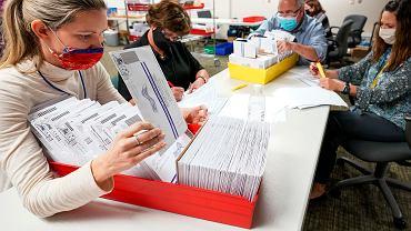 Wybory prezydenckie w USA. Liczenie głosów w Pensylwanii, 5 listopada 2020 r.