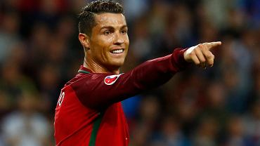 Cristiano Ronaldo w meczu z Islandią