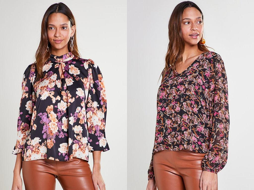 Bluzki koszulowe we wzory
