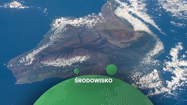 Wyspa Hawai?i widziana z Międzynarodowej stacji kosmicznej w październiku 2020 r.