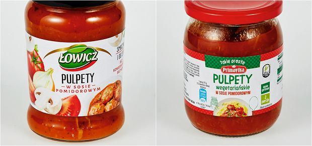 Pulpety w sosie pomidorowym mięsne vs pulpety w sosie pomidorowym wegetariańskie