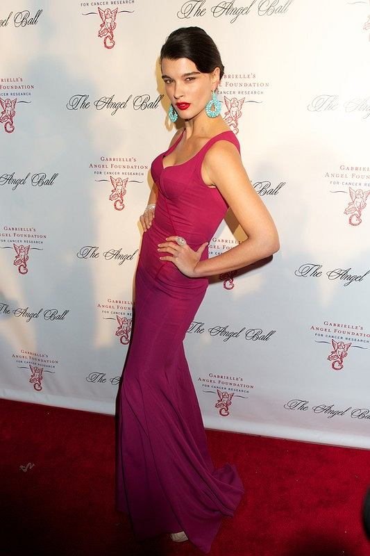 Arrivals to The 2012 Angel Ball to benefit the Gabrielle's Angle Foundation For Cancer Research held at Cipriani Wall Street in New York City.  Pictured: Crystal Renn