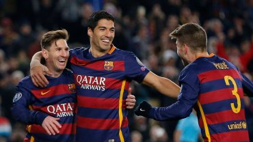Leo Messi, Luis Suarez i Gerard Pique