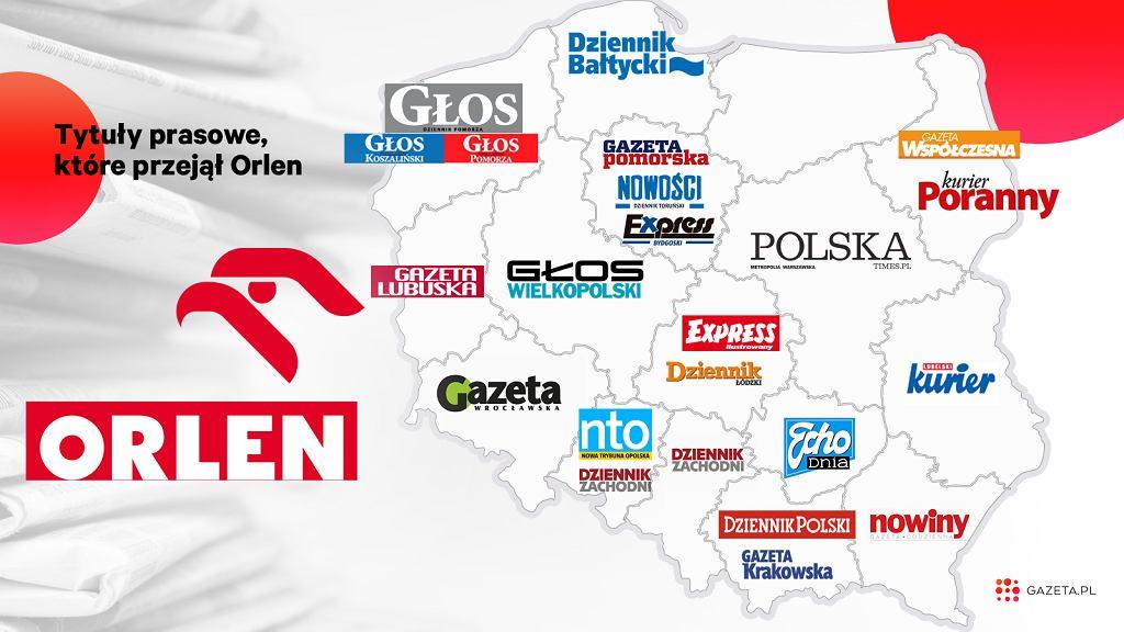 PKN Orlen przejmuje spółkę Polska Press, w tym 20 tytułów lokalnej prasy
