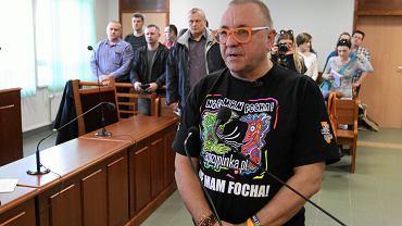 Jerzy Owsiak podczas rozprawy