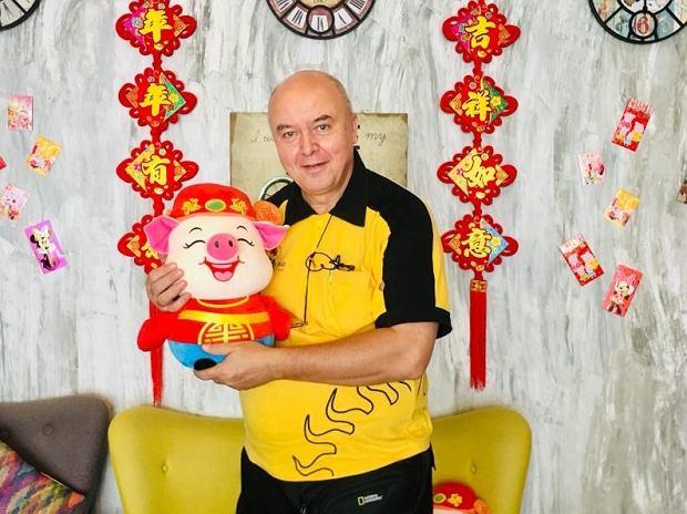 Witold podczas powitania Nowego Roku w Singapurze (fot. Archiwum prywatne)