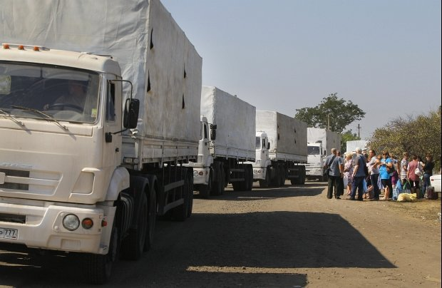 Pierwszy rosyjski konwój z pomocą humanitarną. Drugi już jedzie w kierunku Ukrainy
