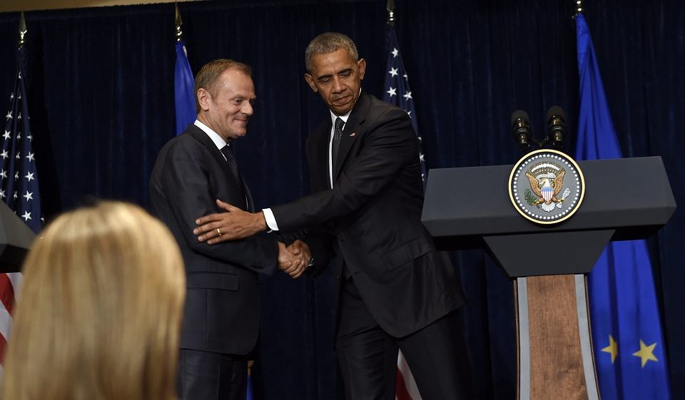 Spotkanie Obamy, Tuska i Junckera