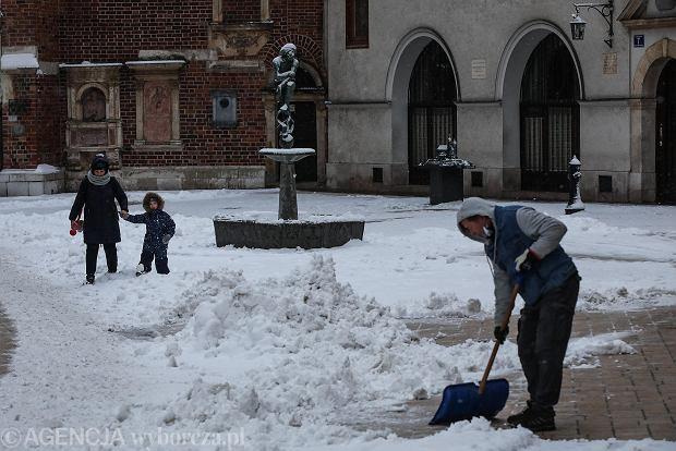 Zdjęcie numer 12 w galerii - Zima w Krakowie - śnieg przykrył ulice, domy, parki [GALERIA]