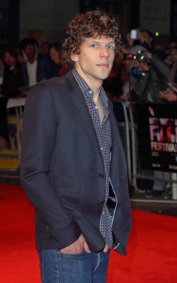 """10/12/2013 - Jesse Eisenberg - 57th Annual BFI London Film Festival - """"The Double"""" Premiere - Arrivals - Odeon West End, Leicester Square - London, UK - Keywords: LMK73-45529-131013 Orientation: Portrait Face Count: 1 - False - Photo Credit: Landmark / PR Photos - Contact (1-866-551-7827) - Portrait Face Count: 1"""
