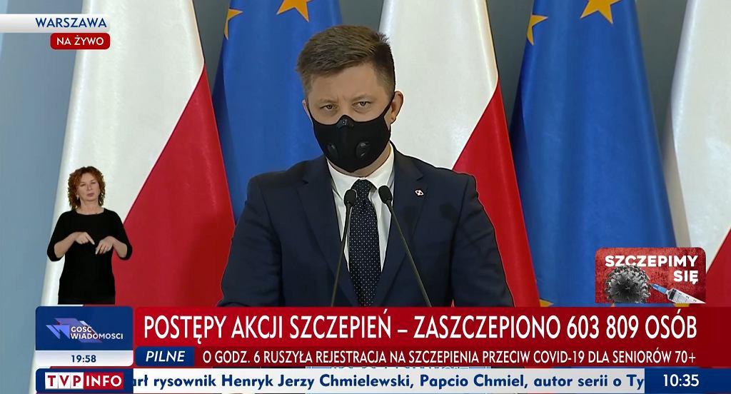Konferencja prasowa Michała Dworczyka