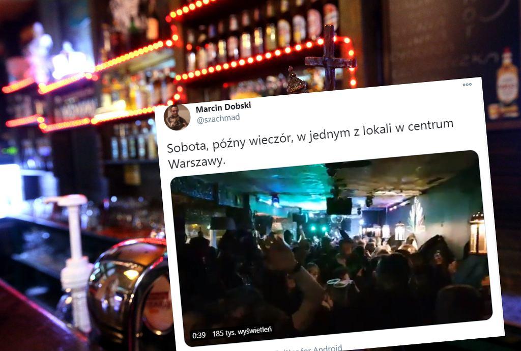Impreza w centrum Warszawy mimo lockdownu