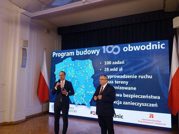 Ministerstwo Infrastruktury zaprezentowało program budowy 100 obwodnic/Fot.Twitter - Ministerstwo Infrastruktury