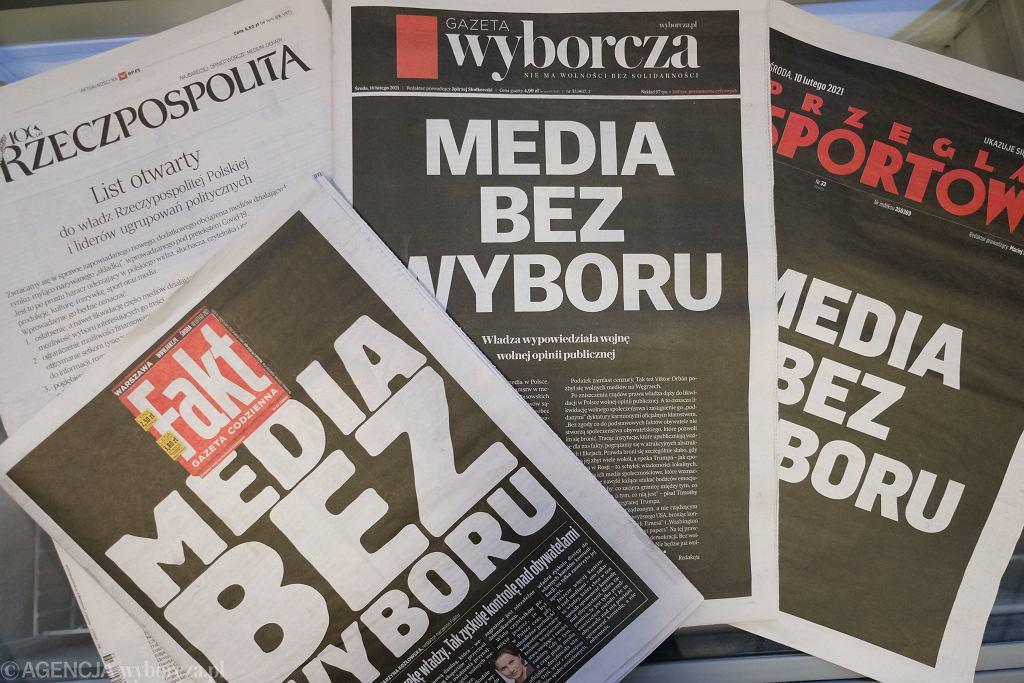 Polacy popierają protest mediów