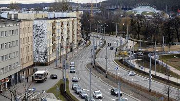 Gdynia , aleja Zwycięstwa , ulica Świętojańska , węzeł Świętego Maksymiliana