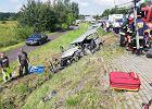 Wypadek koło Olkusza. Karetka zderzyła się z autem. Nie żyje jedna osoba