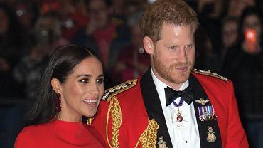 Meghan Markle i książę Harry w Royal Albert Hall w Londynie