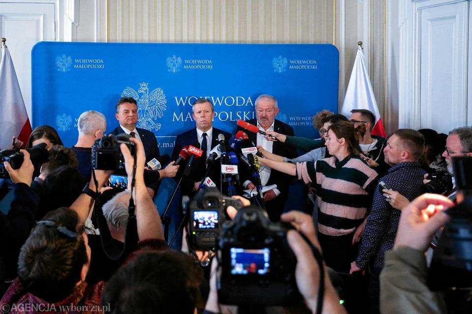Konferencja prasowa nt. przypadku koronowirusa w Krakowie