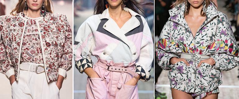Wiosenne kurtki marek premium w cenie, jak z sieciówki! Kwiecista bomberka w stylu Isabel Marant taniej nawet o 75%