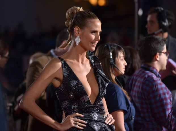 Heidi Klum arrives at the 40th annual People's Choice Awards at Nokia Theatre L.A. Live on Wednesday, Jan. 8, 2014, in Los Angeles. (Photo by John Shearer/Invision/AP)