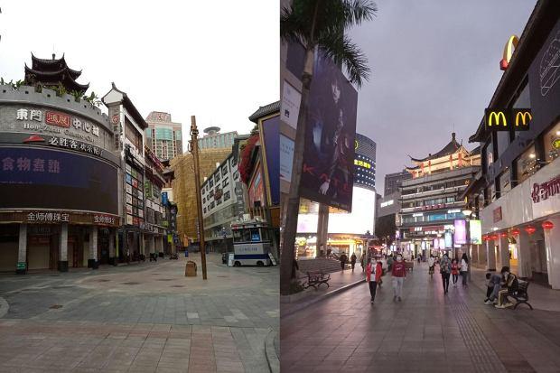 Miasto Shenzhen w czasie pandemii i już wracające do normy