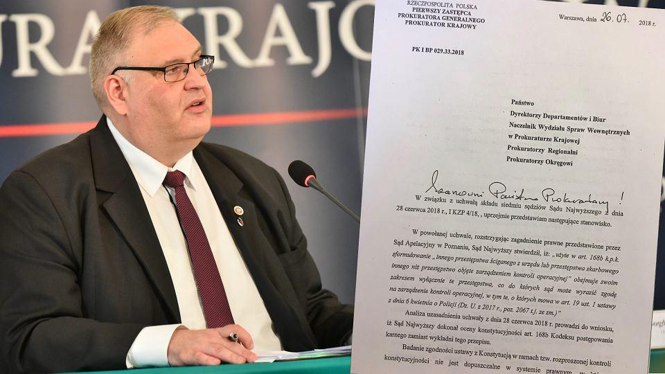 Zastępca prokuratora generalnego Bogdan Święczkowski