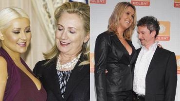 Ewa Wachowicz, Jacek Wójcicki, Christina Aguilera, Hillary Clinton.