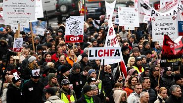 Manifestacja Frankowiczów w Warszawie, 28.02.2015 r.