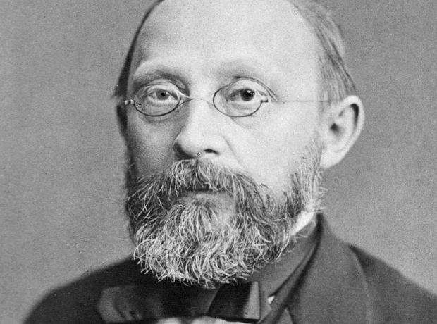Rudolf Virchow (1821-1902) - genialny lekarz i patolog, który włączył się w pomoc Górnoślązakom. To on wiele lat później wprowadził do nauki pojęcia takie jak 'zakrzepica' i 'zatorowość'