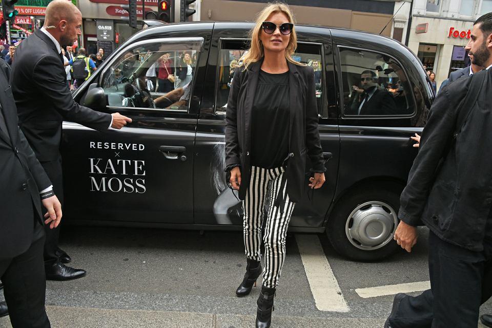 Brytyjska modelka Kate Moss podczas otwarcia sklepu Reserved w Londynie