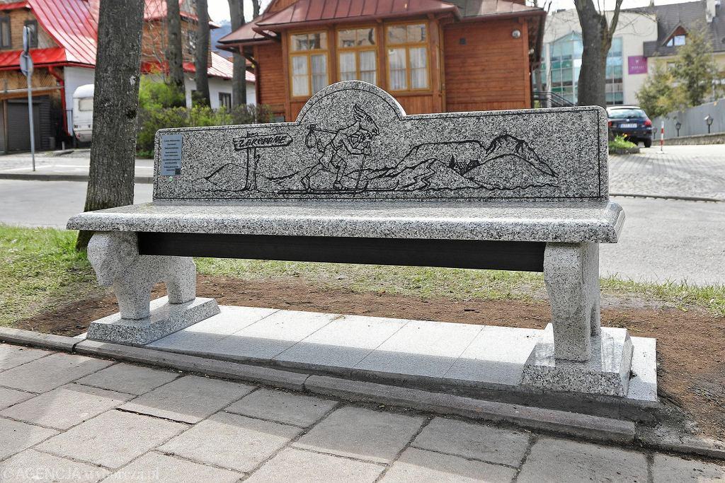 Ławeczka Kornela Makuszyńskiego w Zakopanem