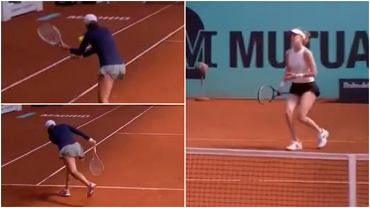 Fenomenalne zagranie Igi Świątek podczas meczu z Alison Riske w I rundzie turnieju Mutua Madrid Open