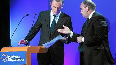 Donald Tusk i Grzegorz Schetyna, zdjęcie z lipca 2011 roku