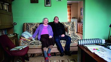 Waldemar Bawołek z mamą, październik 2017