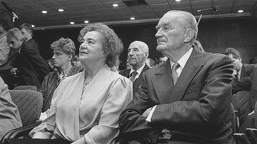Piotr Jaroszewicz z żoną
