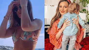 Figura Mariny Łuczenko rok po porodzie