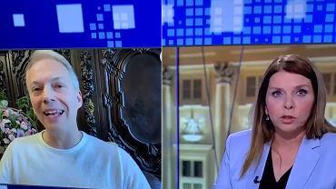 Jacek Żalek w programie TVN24 prowadzonym przez Katarzynę Kolendę-Zaleską