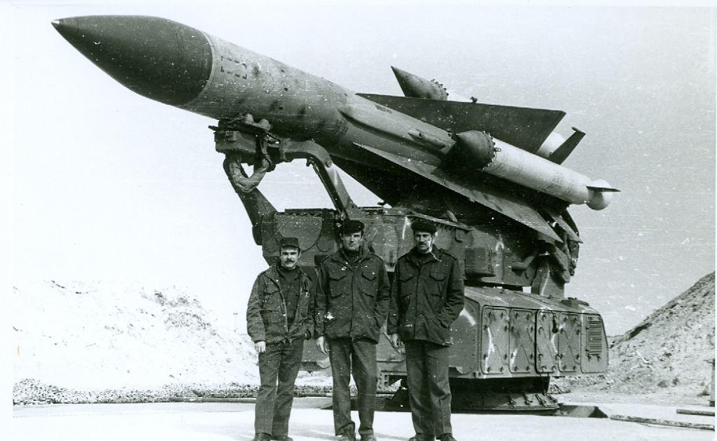Rakieta systemu S-200 w Syrii. Zdjęcie wykonane w latach 80. przez radzieckich doradców, którzy budowali syryjski system przeciwlotniczy