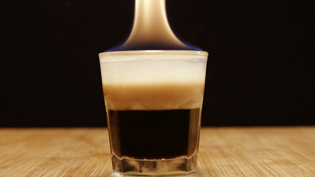 Flaming B-52, shot, drink, alkohol, haps