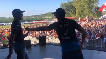 George Russell i Robert Kubica przed GP Węgier