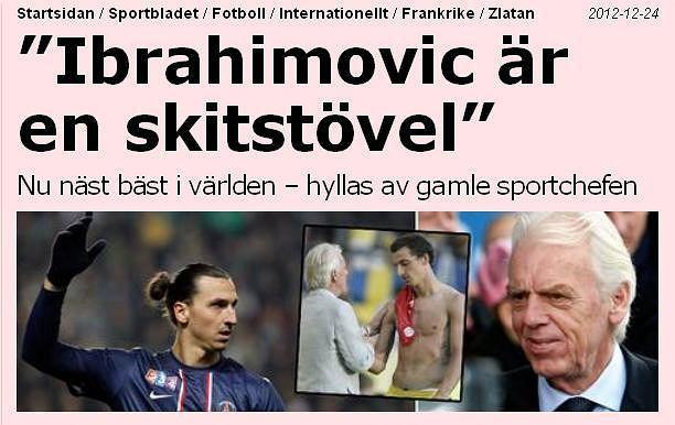Wypowiedź Beenhakkera trafiła na nagłówki serwisów sportowych ze Szwecji. Tu screen z dziennika 'Sportbladet'